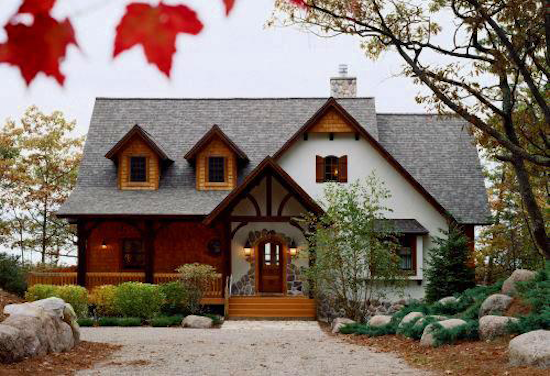 Heather Cottage Timber Home Plan By Town Country Cedar Homes