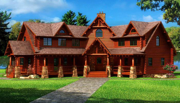 Rustic Refined Home Plans