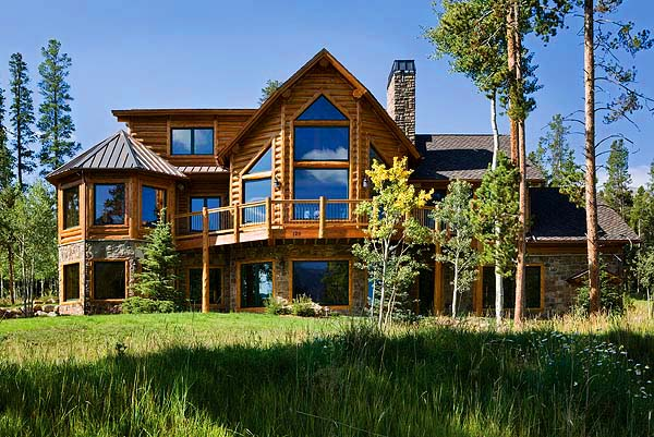 Buat testing doang cedar houses for Log and stone homes