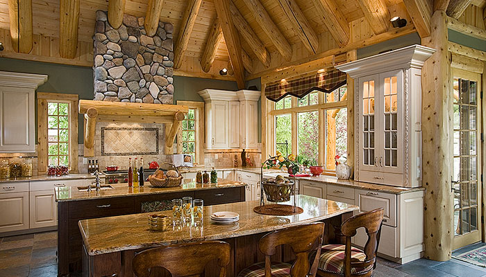 Northville kitchen town country cedar homes - Small cottage house designs concept ...