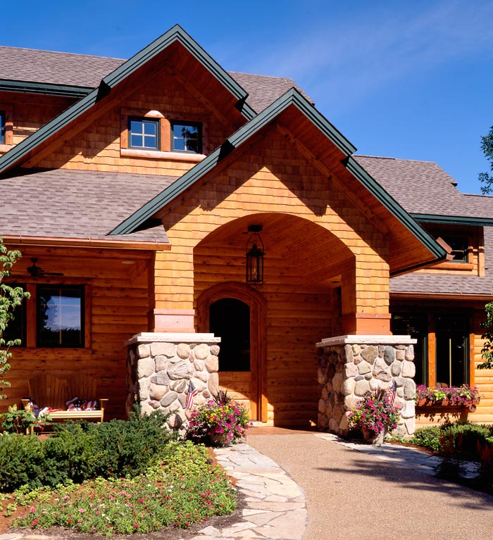 stoney creek entrance town country cedar homes. Black Bedroom Furniture Sets. Home Design Ideas