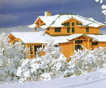 Custom timber frame home