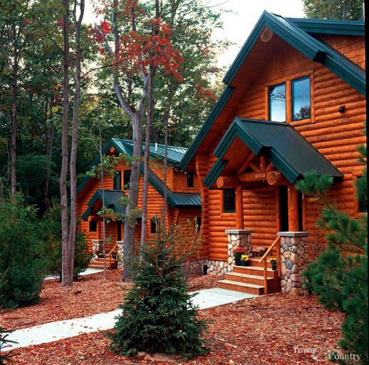Luxury Homes In Minnesota: Log Cabin Plans & Luxury Mountain Home Plans