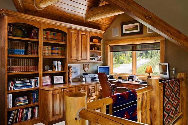 Log Home Office : Arcd town country cedar homes