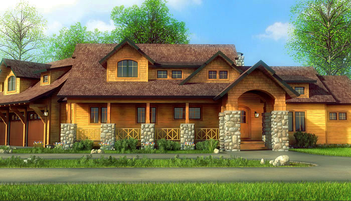 poe entry small town country cedar homes. Black Bedroom Furniture Sets. Home Design Ideas