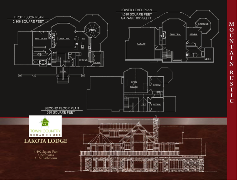 Log Home Floorplan - Lakota Lodge