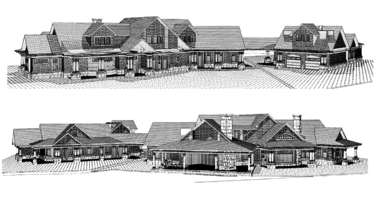 Our shingle style timber frame design