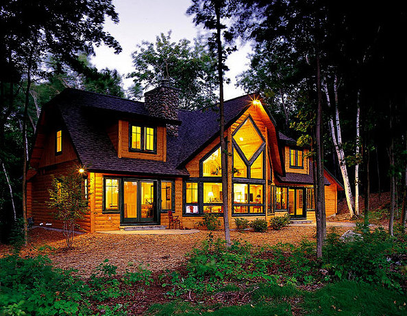 Glenwood log home