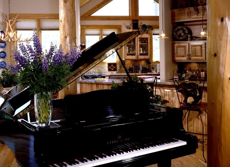 Log Home Piano Bar