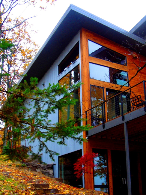 Mountain Contemporary Cedar Home